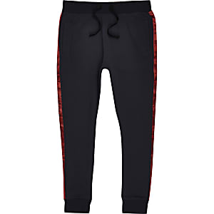 Jack & Jones blue satin tape joggers
