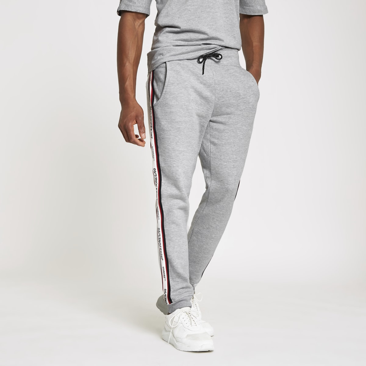 Jack & Jones grey tape joggers