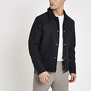 Jack & Jones – Marineblaues Shacket