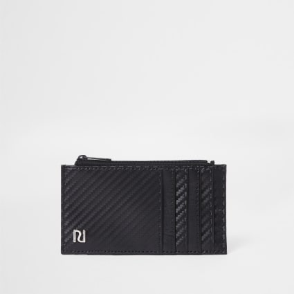 Black contrast texture card holder