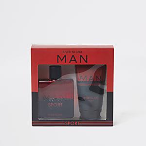 Coffret parfum et gel douche RI Man Sport rouge