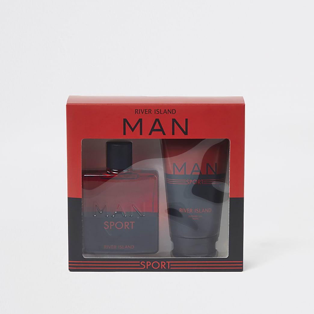 Red RI Man Sport shower gel and fragrance set