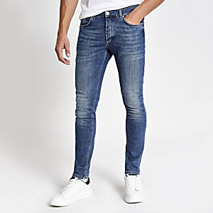 Middenblauwe skinny-fit jeans