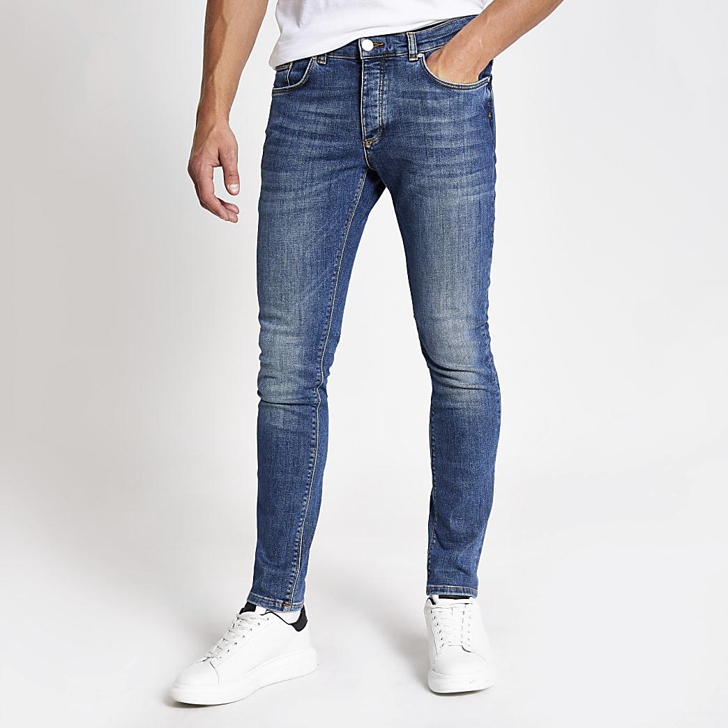 Mid blue Sid skinny fit jeans