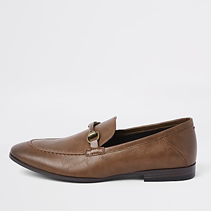 Brown snaffle loafers