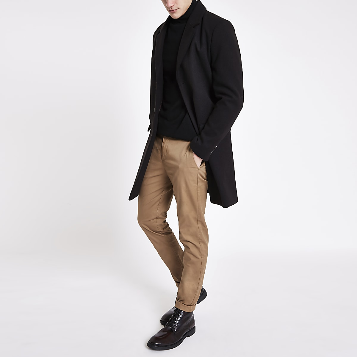 Light brown skinny smart trousers