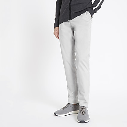 Light grey skinny Sid smart trousers