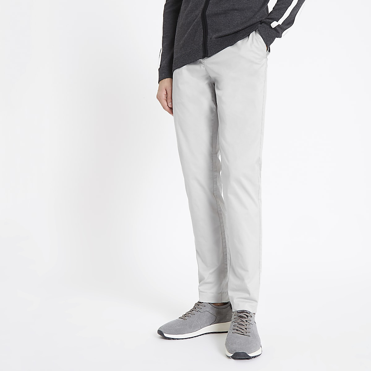 Light grey skinny smart trousers