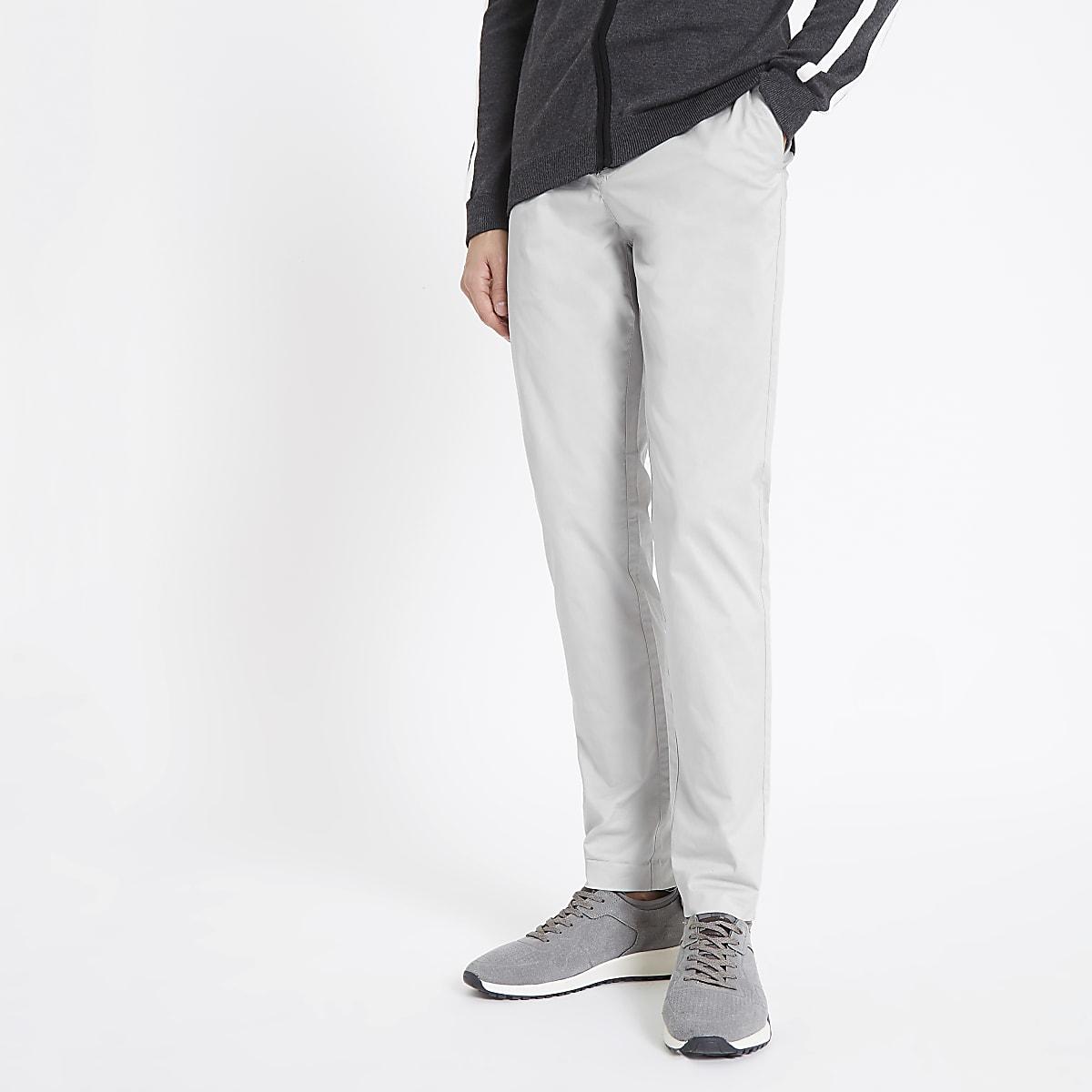 Light grey skinny Sid smart pants