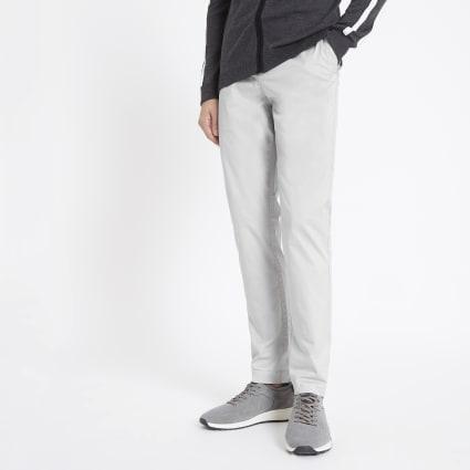 Light grey skinny Sid smart trousers