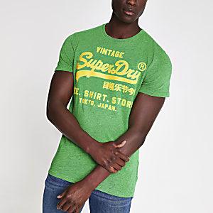 Superdry - Groen T-shirt met ronde hals
