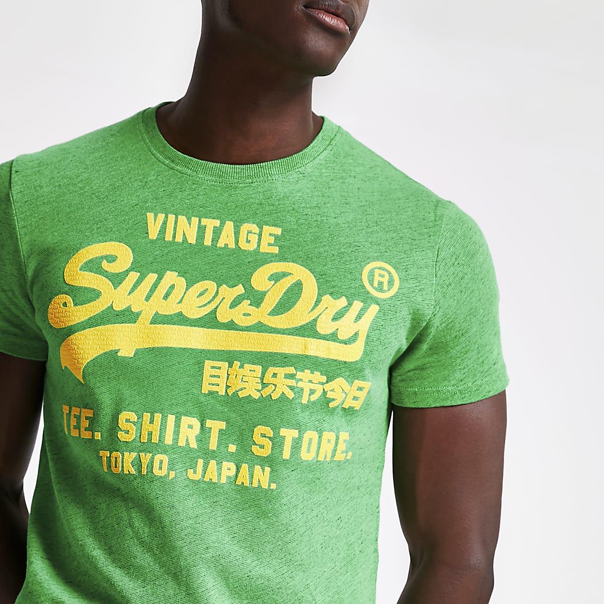 1a2fcd8ae34 Superdry - Groen T-shirt met ronde hals - T-shirts - T-shirts ...