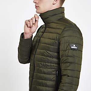 Superdry – Fuji – Veste matelassée verte avec double zip