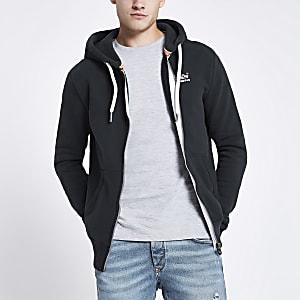 Superdry blue zip front hoodie