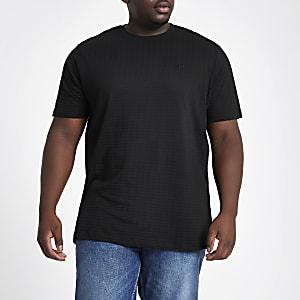 Big and Tall waffle slim fit crew T-shirt