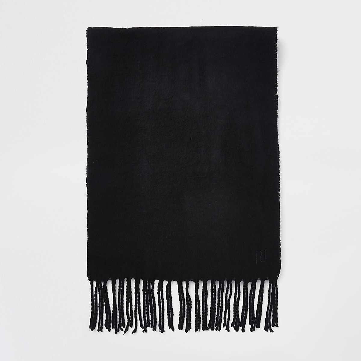 Black woven scarf