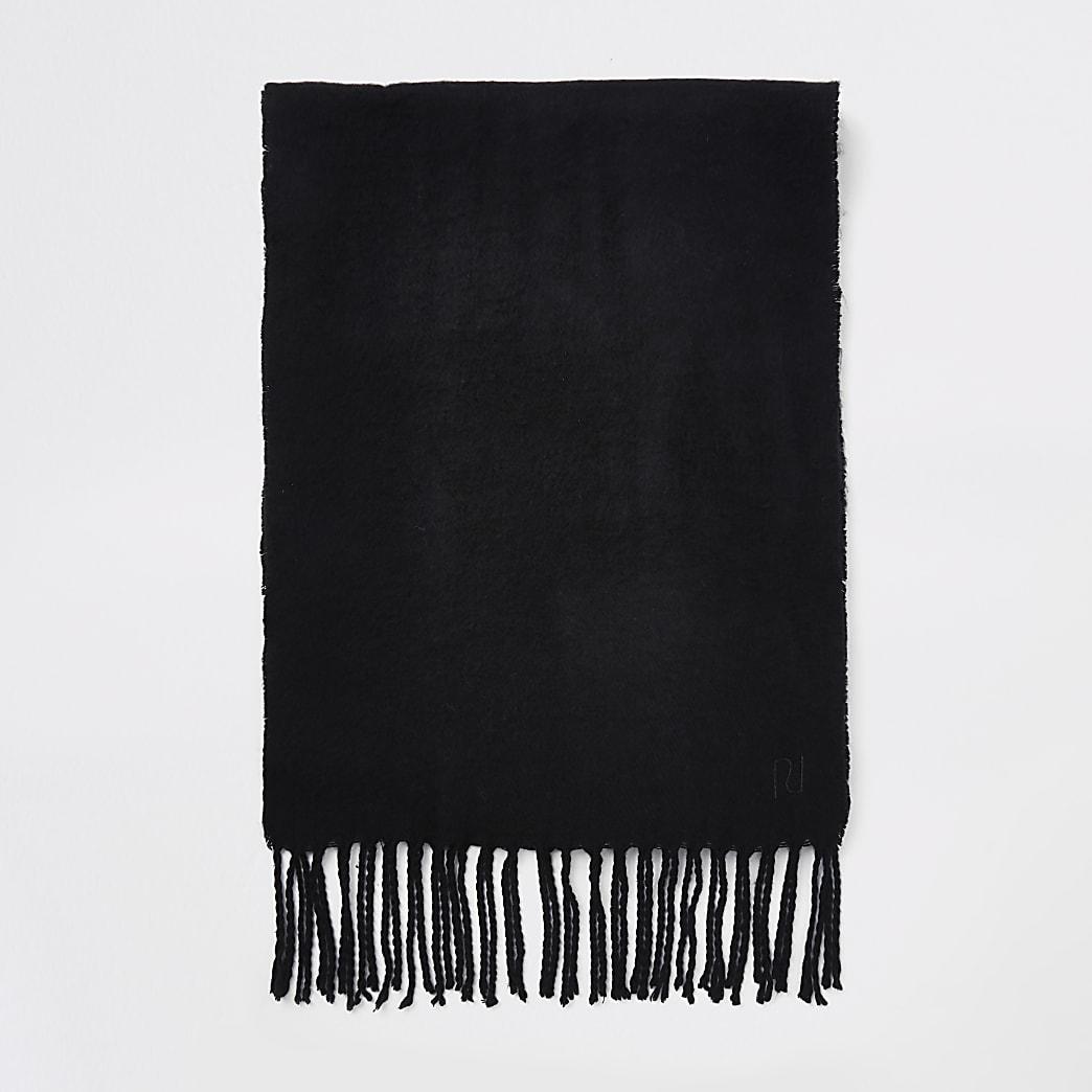Écharpe tissée noire