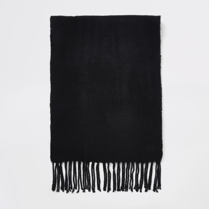Black woven scarf