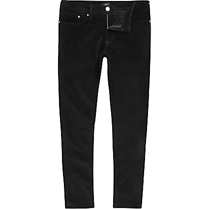 Big and Tall velvet super skinny fit trousers