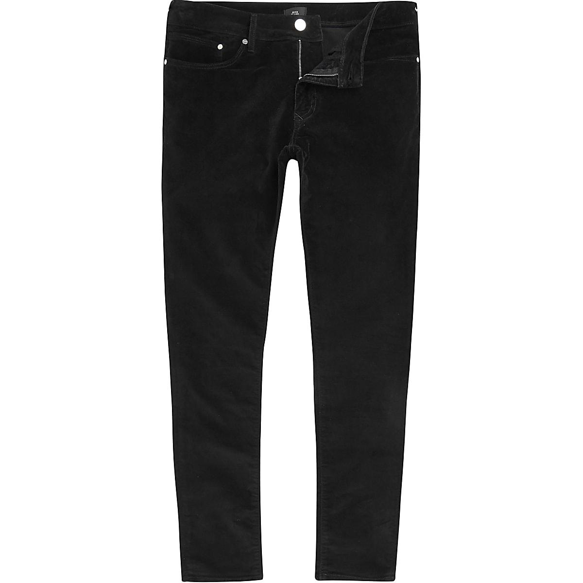 Big and Tall – Pantalon ultra skinny en velours