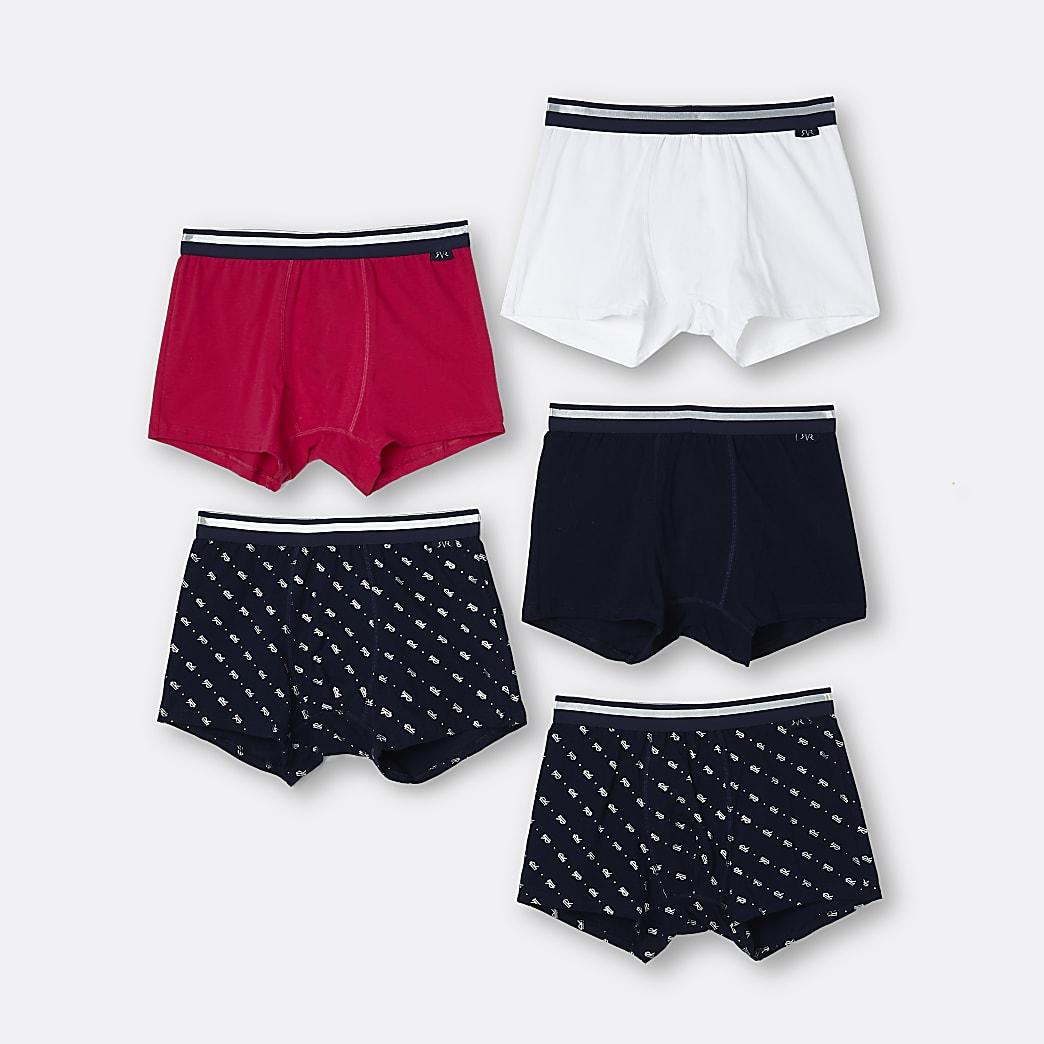 Set van 5 kaki met meerkleurige strakke boxers
