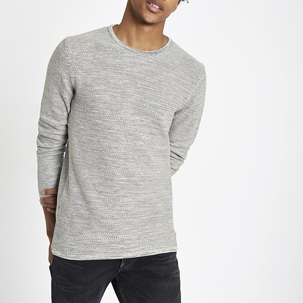 Minimum grey crew neck jumper