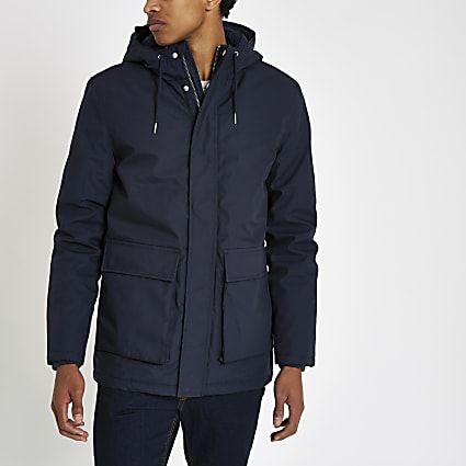 Minimum navy parka jacket