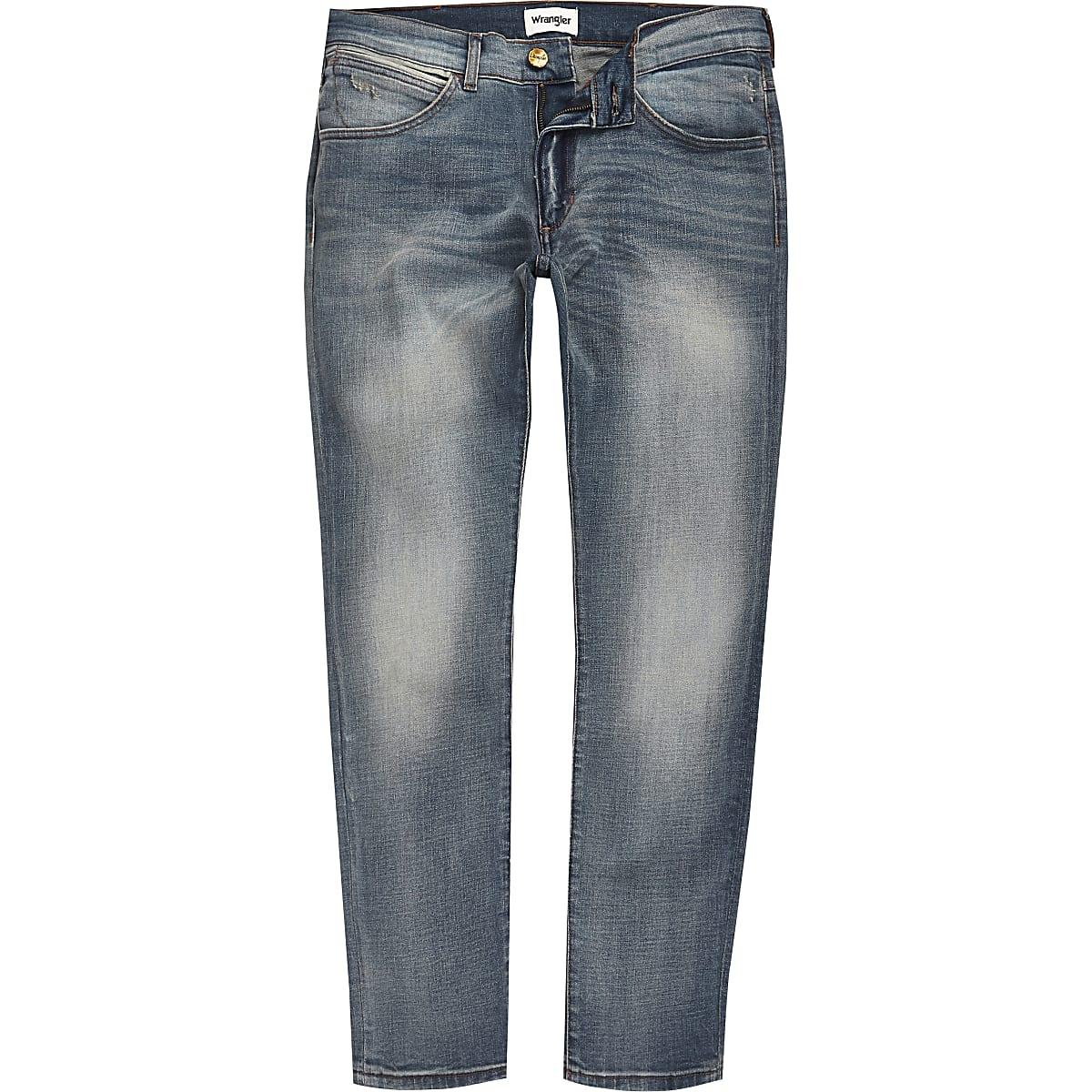 Wrangler light blue Bryson skinny jeans