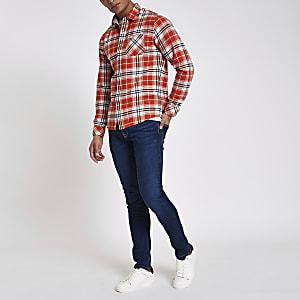 Pepe Jeans – Jean skinny bleu foncé