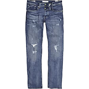 Pepe Jeans blue Cash ripped jeans