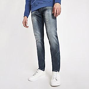 Pepe Jeans Stanley - Blauwe smaltoelopende getinte jeans