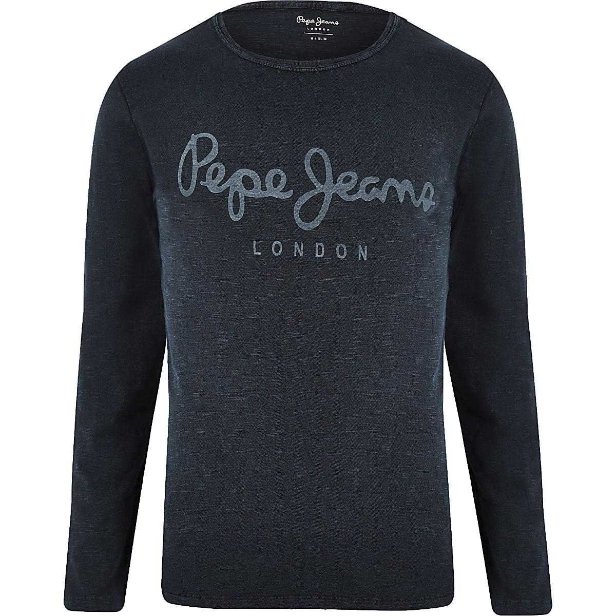 c3d5f093c0 Pepe Jeans blue long sleeve T-shirt - Long Sleeve T-Shirts - T ...