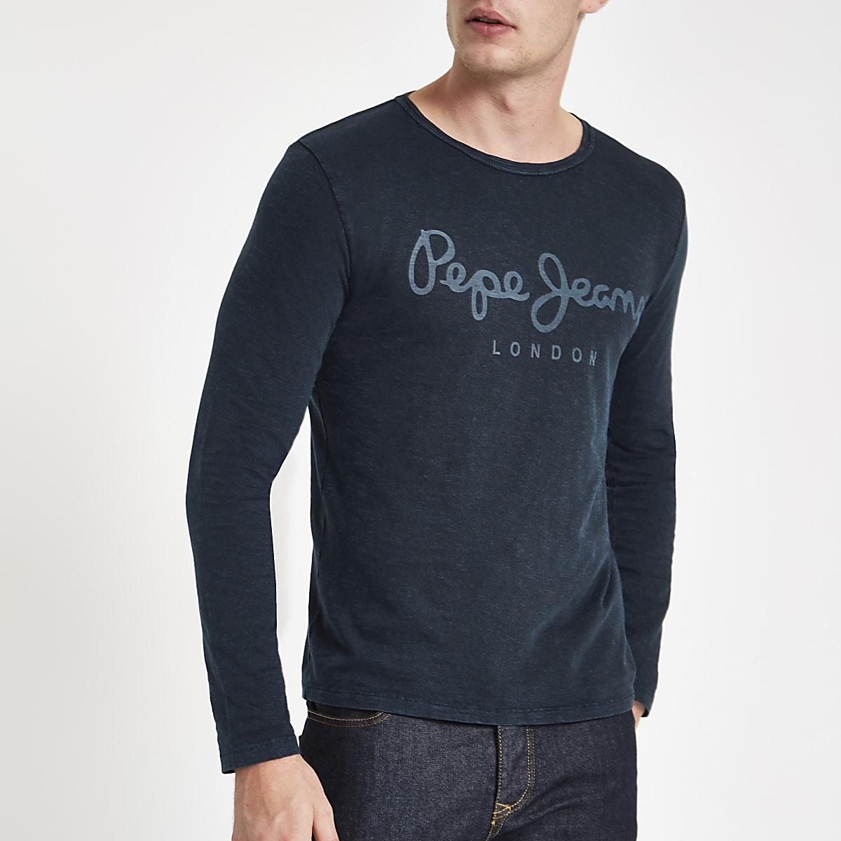 Pepe Jeans blue long sleeve T-shirt