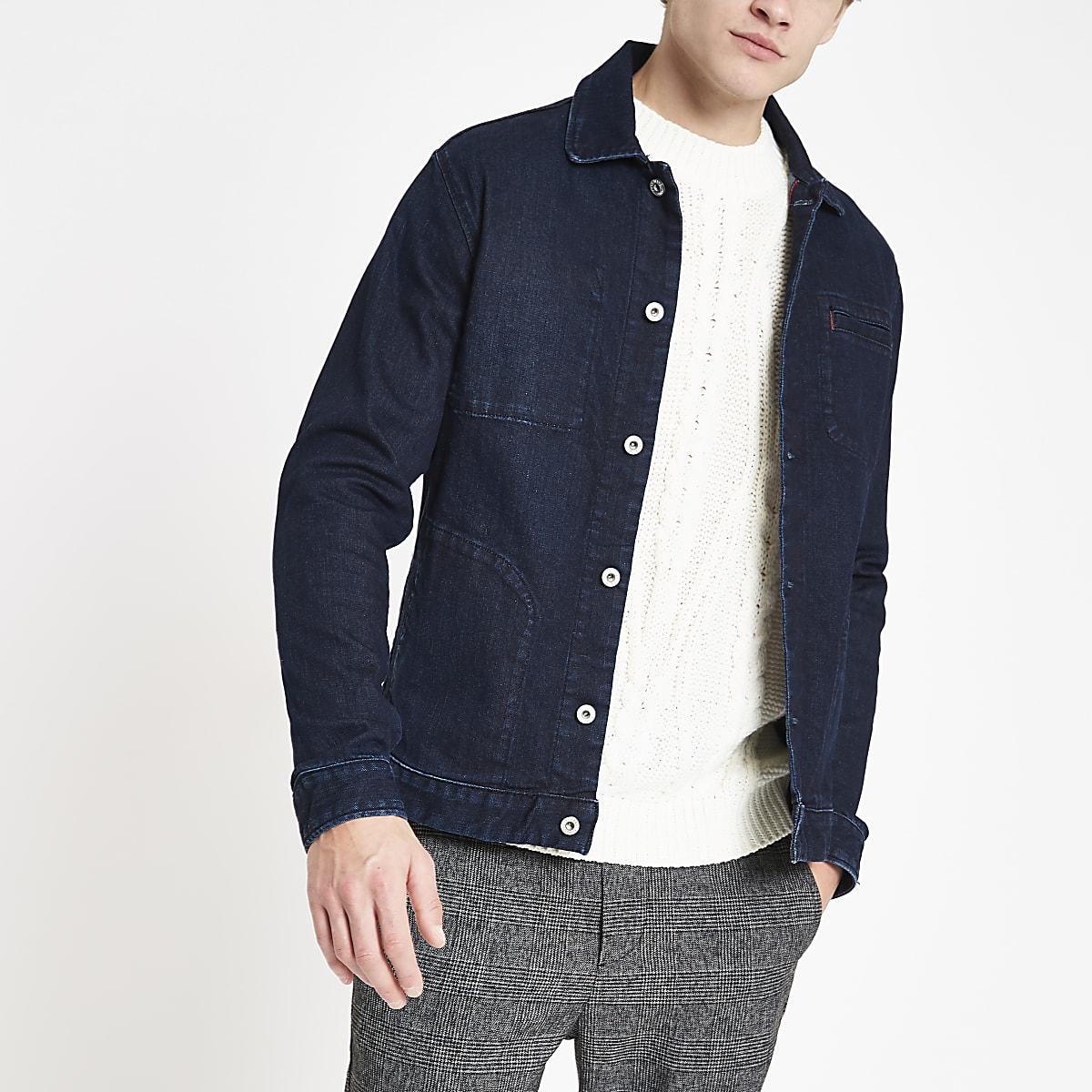 Pepe Jeans – Veste en denim bleu foncé