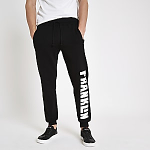 Franklin & Marshall black fleece joggers