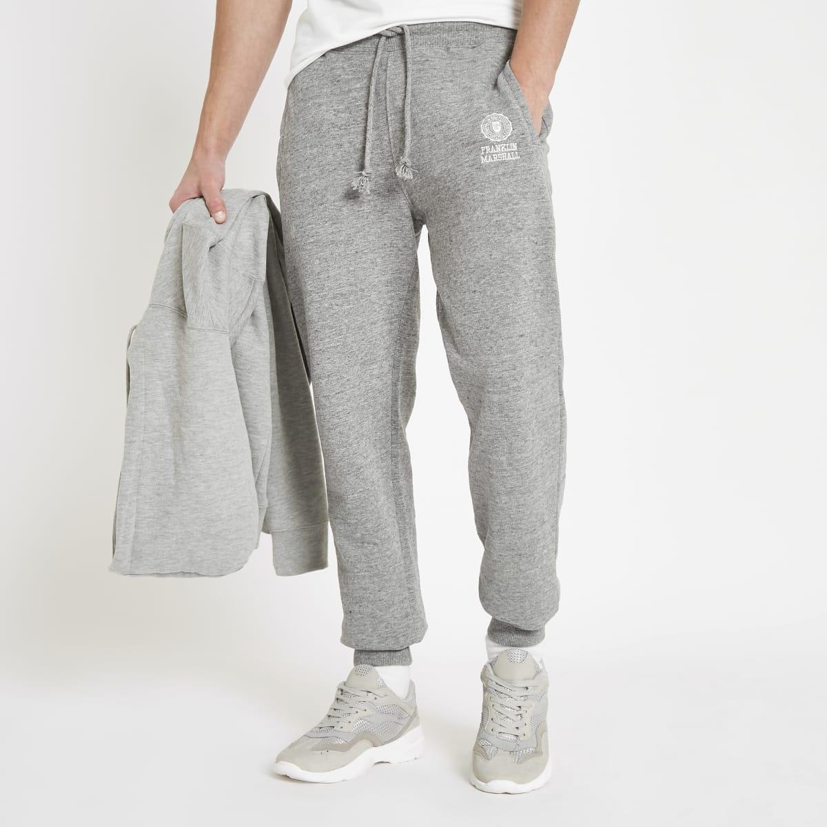 Franklin & Marshall – Pantalon de jogging en molleton gris