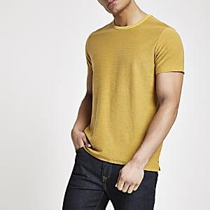 Pepe Jeans – Gelbes, gestreiftes T-Shirt