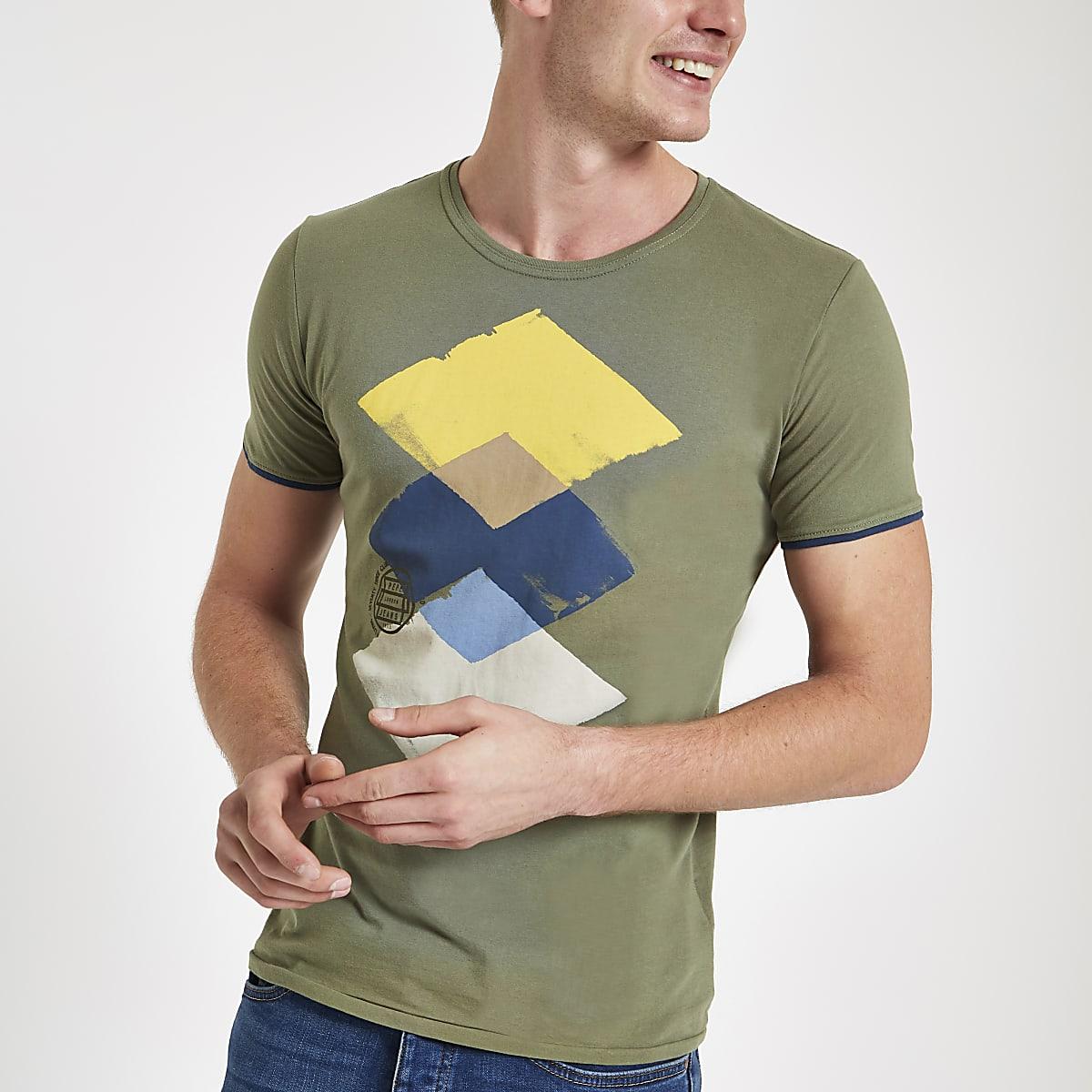 4e74d3d878 Pepe Jeans green universe print T-shirt - T-shirts - T-Shirts   Vests - men