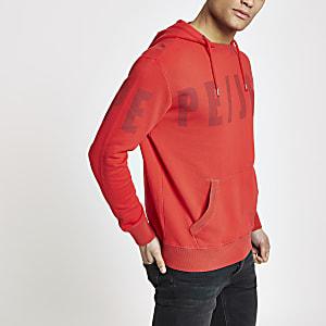 Pepe Jeans – Roter Hoodie mit Logo