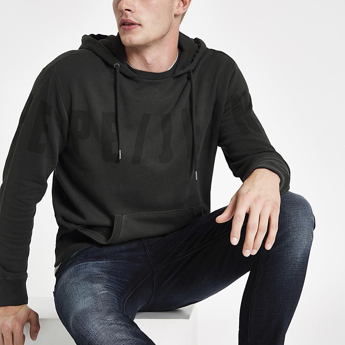 Pepe Jeans black logo hoodie