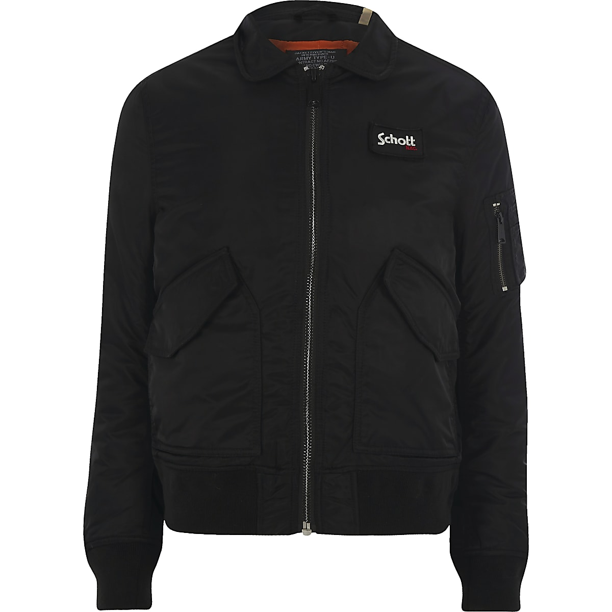 Schott black collar jacket