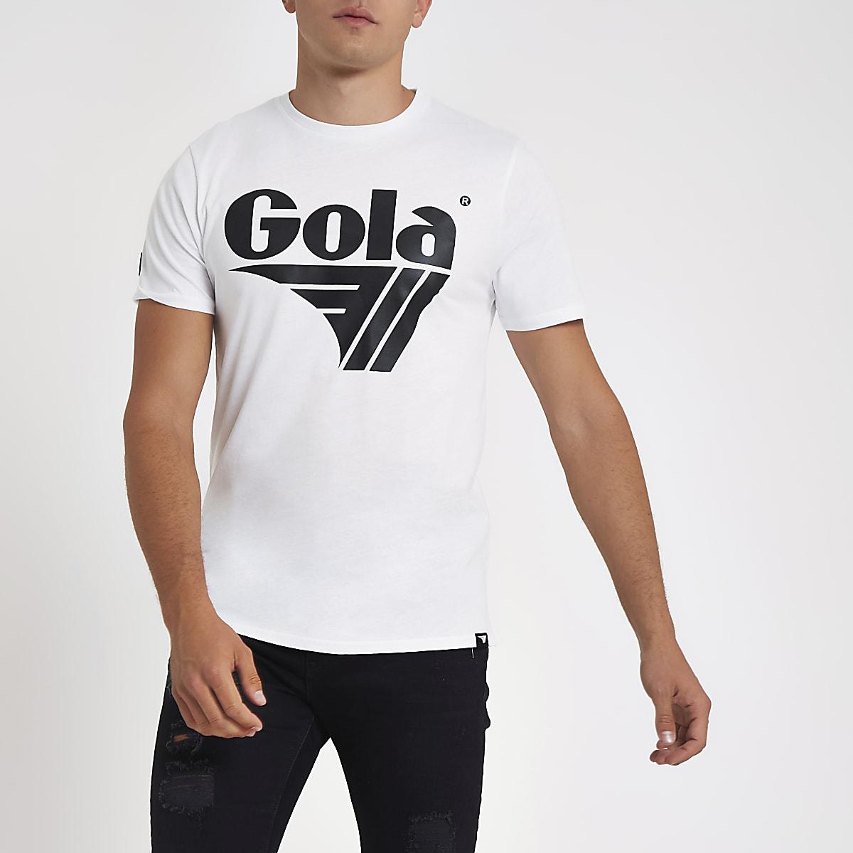 Gola white logo print T-shirt