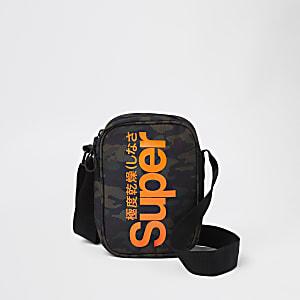 Superdry green cross body pouch