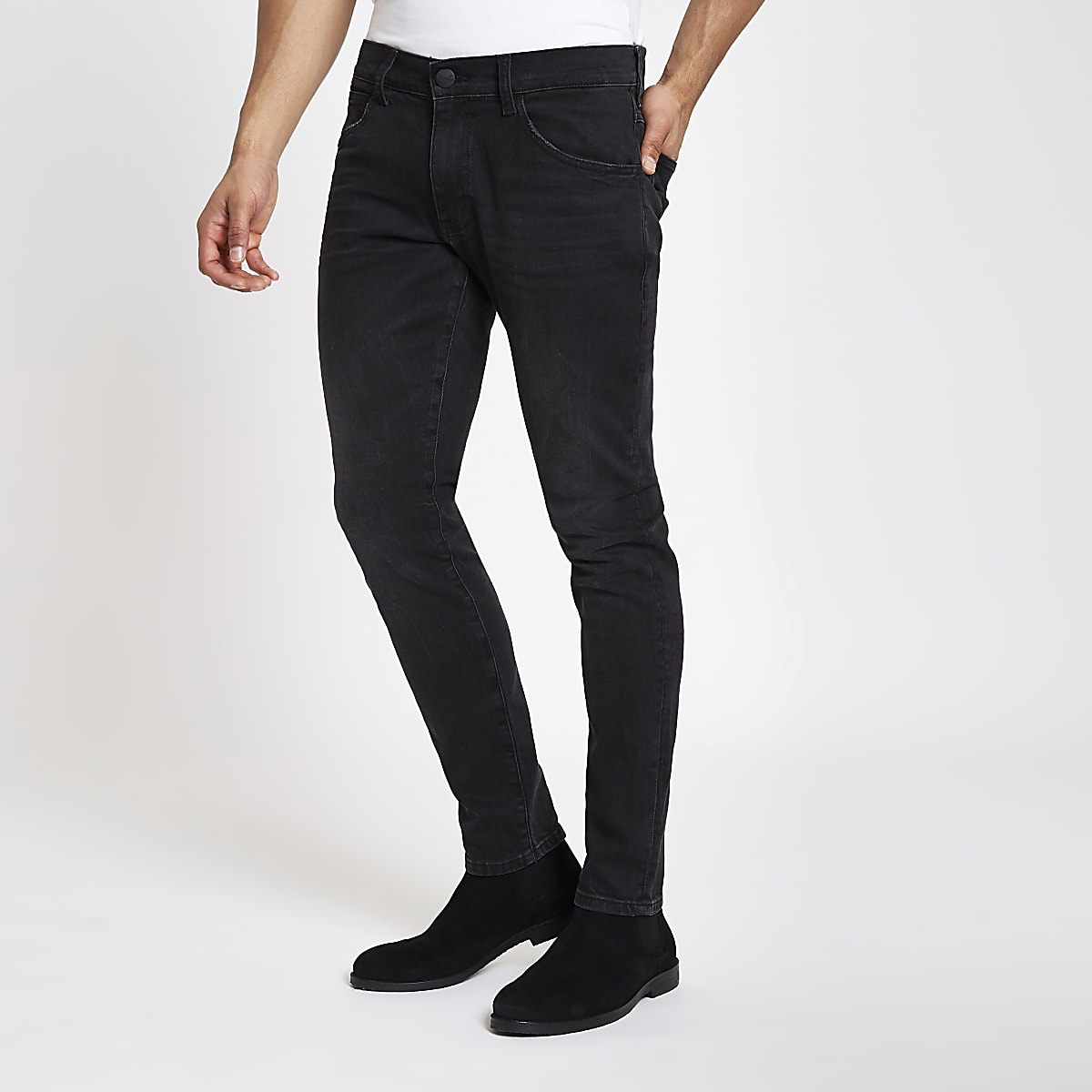 new collection top-rated latest discover latest trends Wrangler black Bryson skinny jeans