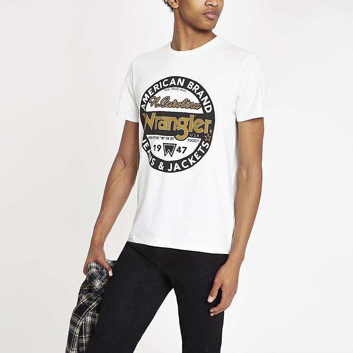 Wrangler ecru 'Americana' T-shirt