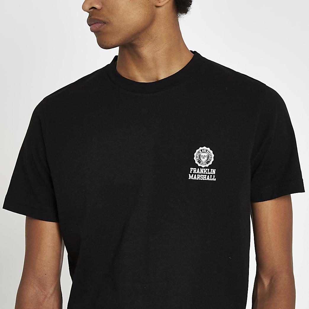 Franklin & Marshall black crew neck T-shirt