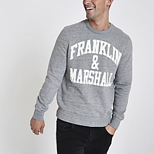 Franklin & Marshall grey crew neck jumper
