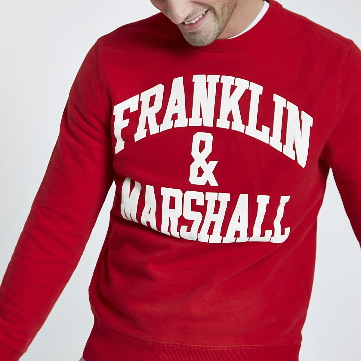 Franklin & Marshall – Sweat ras-du-cou rouge