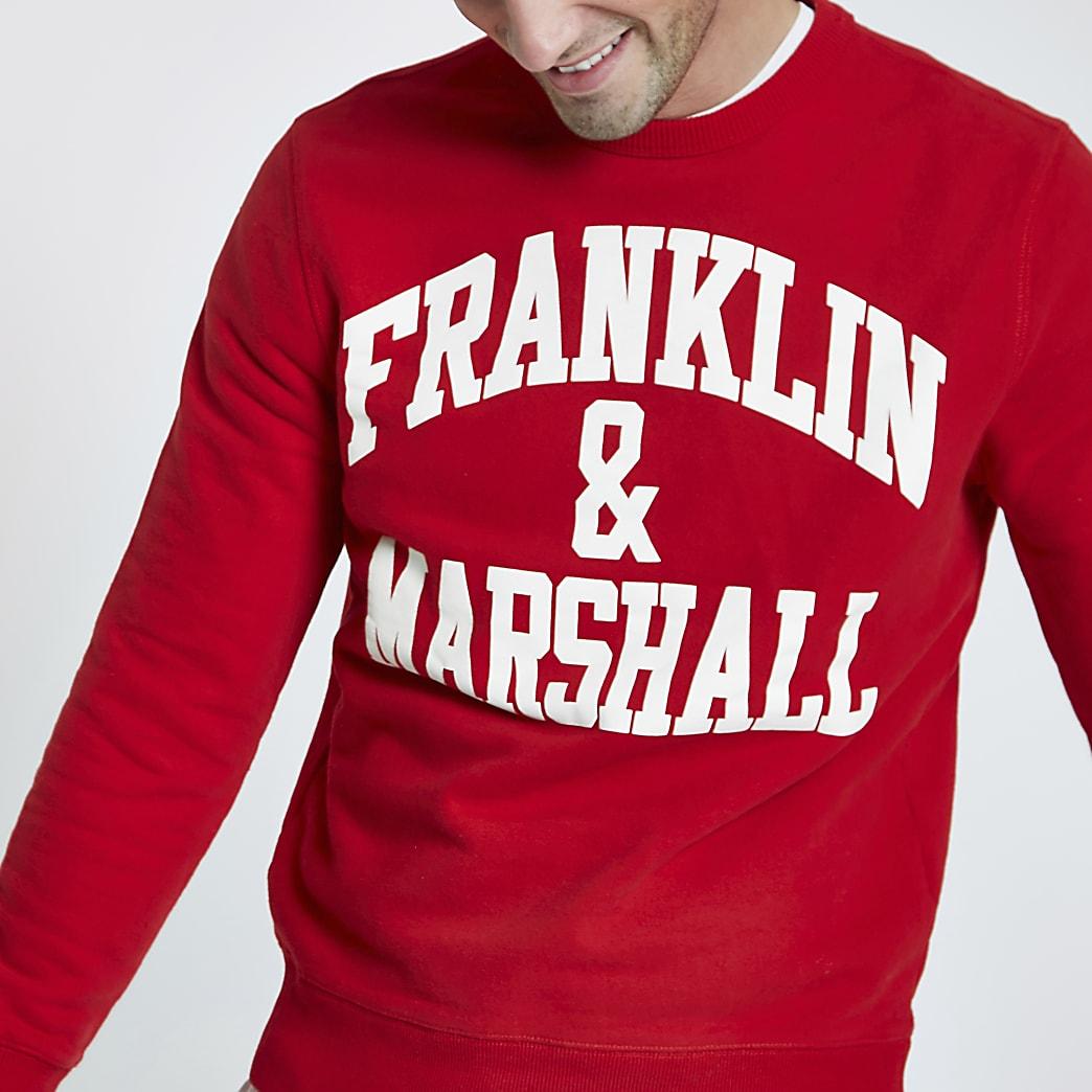 Franklin & Marshall red crew neck sweatshirt