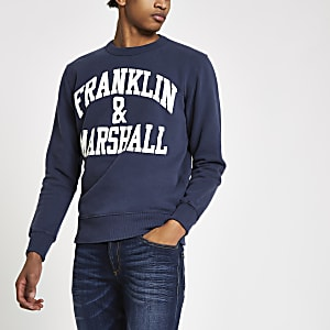 Franklin & Marshall navy logo sweatshirt